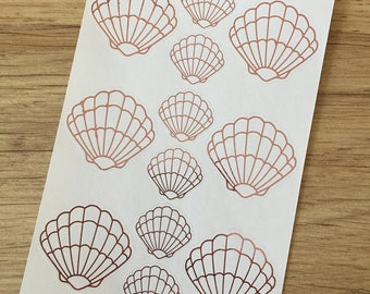 Foiled Shell Planner Stickers