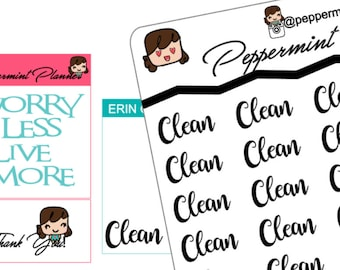 Clean Word Art Planner Stickers, {#52}