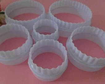 Box 6 moulds cakes away Pieces sold by round pastry cake sandy