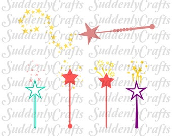 Fairy Princess Magical Wands SVG