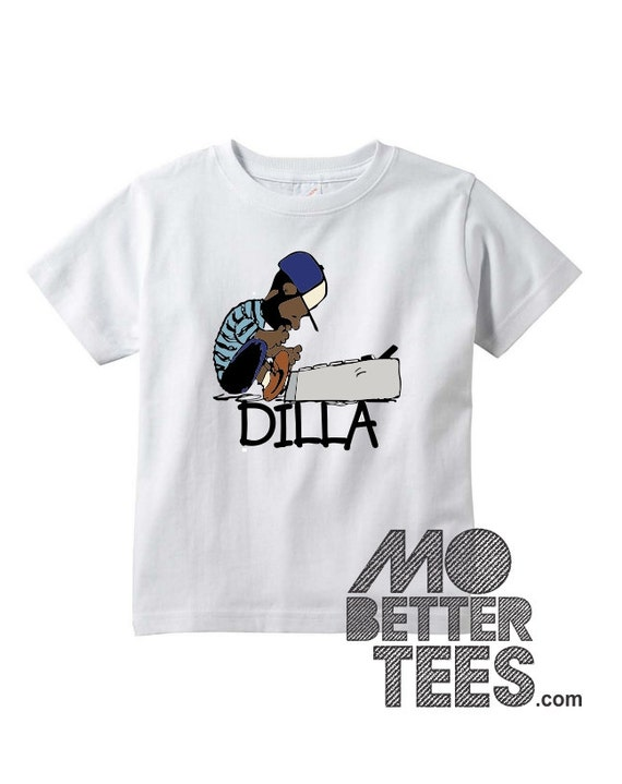 J Dilla white Toddler or Youth T-Shirt Doughnuts Shining Graphic Tee Jay Dee SV Hip-Hop super producer
