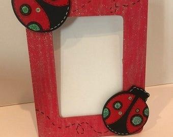 Ladybug Frame Red and Black