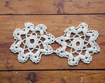 Antique crochet applique motif