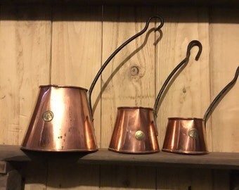 Vintage  Copper Cider jug Set Pourer home decor country chic