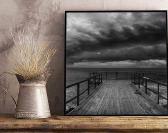 Stormy Skies II Artwork - Framed / Unframed canvas / Print