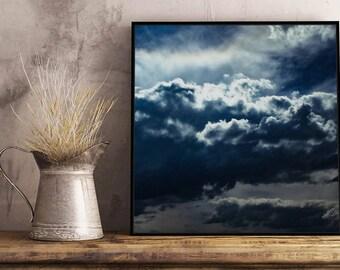 Stormy Skies III Artwork - Framed / Unframed canvas / Print