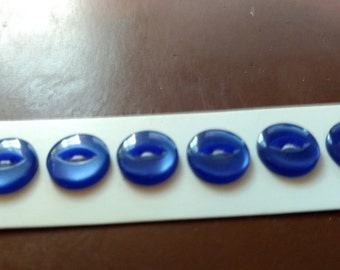 Vintage Basic B. Blumenthal & Co. Blue Buttons. 9052