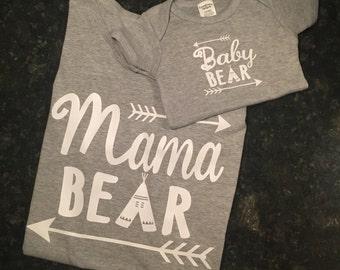 Mama Bear/Baby Bear - Mommy & Me Shirts