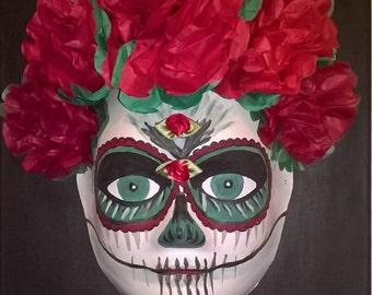 Day Of The Dead (Día de los Muertos.) Roses.