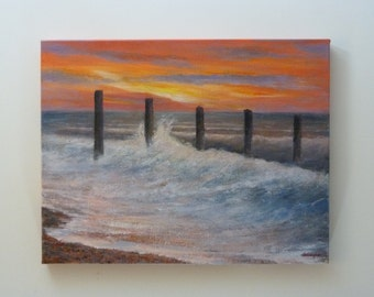 Original painting: East coast sunrise.