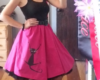 Kitty circle skirt SALE