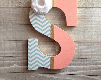 Decorative Letters, Wood Letters For Wall, Wall Letters, Nursery Letters, Letters for Wall, Nursery Decor, S, Letters to Decorate the House