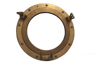 Porthole; Brass Porthole; Nautical Decor