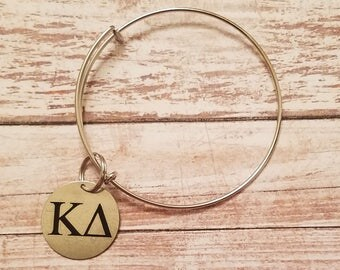 Silver plated Monogram Bangle Bracelet, Personalized Jewelry Fashion Jewelry Monogram bangle  Bracelet