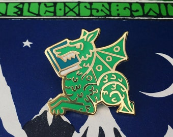 Book Wyrm Green Enamel Pin - Bookish gift  - bookish enamel pin - gifts for readers - gift for book lover - reading pin