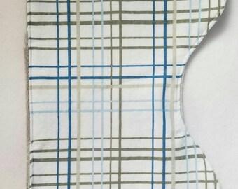 Plaid burp cloth