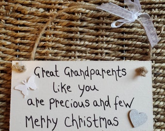 Christmas - Great Grandparents - Personalized Grandparents Gift - Personalized keepsake for Grandparents -Grandparents-gift for grandparents