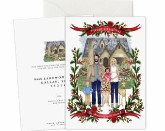 Holiday Greeting Card - Custom Illustration