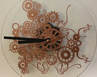 Clock Steampunk with Arabesques