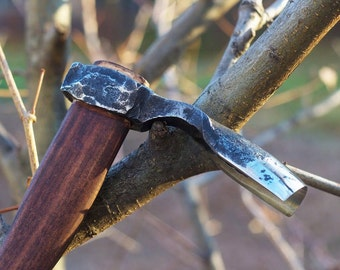Hand forged Adze, forged tools, forged adze, carpentry adze, carpentry tool, woodcarving adze, medium size