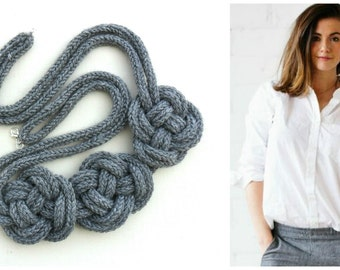 crocheted knot necklace