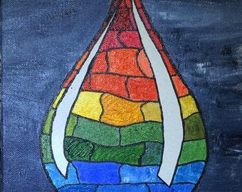 "Essence of a Tear 9""x12"" original painting"