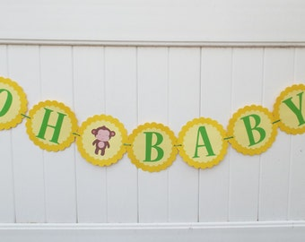 oh baby banner gender neutral reveal party gender neutral baby shower baby shower