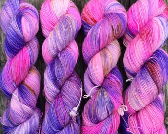 County Fair Sunset- Sturdy Sock Hand Dyed  Sock Yarn Superwash Merino Nylon