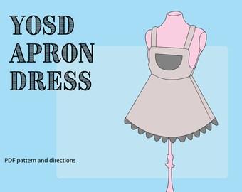Apron Dress Pattern for 1/6 BJDs