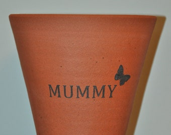 "Terracotta Flower Pot ""Mummy"""