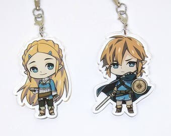 """The Legend of Zelda : Breath of the Wild 2.5"""" inch Clear Acrylic Charms"""