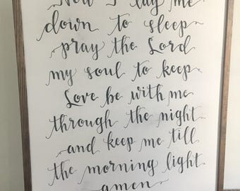 SALE!!! Bedtime Prayer | Amen | Framed Sign