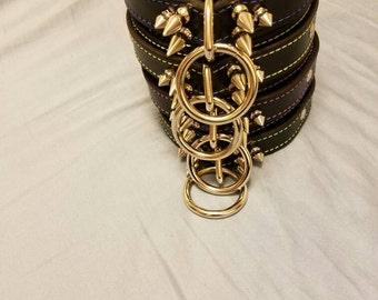 Choker With Spikes, BDSM Choker, BDSM Collar, Leather Choker, Leather Collar, Collar, BDSM