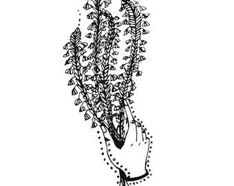 Wild Flower in Hand Print