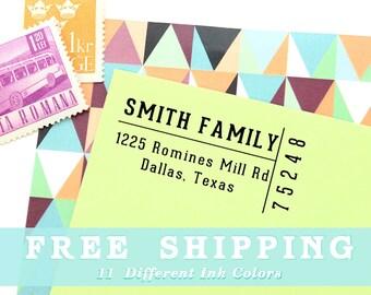 Return Address Stamp, Custom Self Inking Stamp or Wood Stamp, Ticket Stub Custom Address Stamp, Customized Gift, Free Shipping