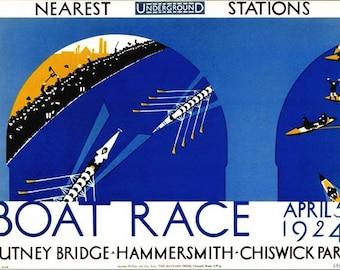 1924 Oxford Cambridge University Boat Race Poster  A3/A2/A1 Print
