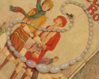 Vintage Opaline glass necklace