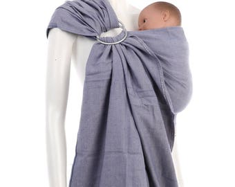 Ring Sling - Blue-Pink Ring Sling by babywrap.com.my - Woven Baby Wrap - Ring Sling Baby Carrier