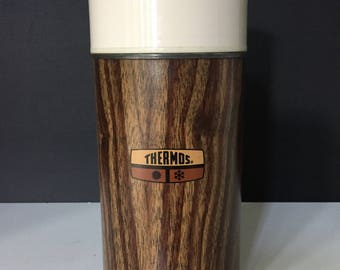 Vintage Faux Wood Thermos