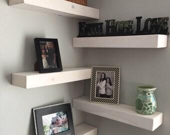 Set of 5 rustic floating shelves, floating shelves, shelving, reclaimed wood, wall art, home decor,