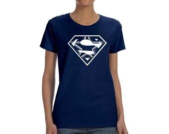 Superman/Dallas Cowboy Heavy Cotton Ladies' Missy Fit T-Shirt