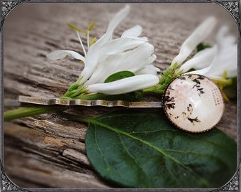 Cabochon flower hair pin Jiang