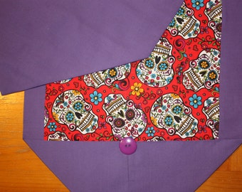 Day of the Dead/Sugar Skull table runner with button accent