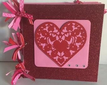 Valentine 8 x 8 Chipboard Premade Album