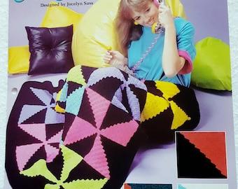 1993 The Needlecraft Shop Neon Pinwheels Crochet Pattern