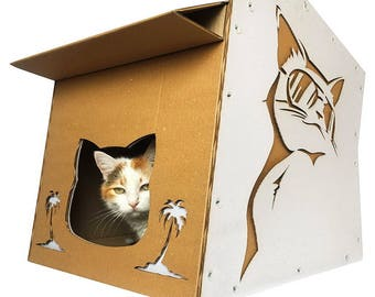 Cardboard cat furniture for people and pets von CacaoPets auf Etsy