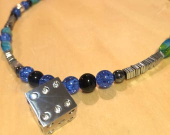 Stainless Steel Dice Necklace - By Thunder