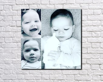 Personalised Three-Photo Collage Canvas