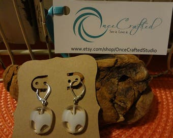 HandCrafted Earrings - white wave2