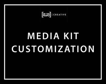 Media Kit Template Customization Service